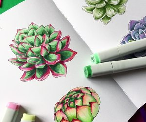 aesthetic, drawings, and plants image