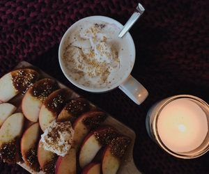apple, autumn, and candles image