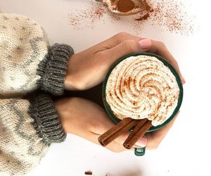 autumn, sweater, and coffee image