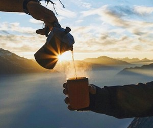 cup of tea, photography, and sunshine image