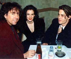 johnny depp, tim burton, and winona ryder image