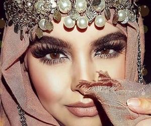 hijab, makeup, and sun image