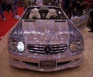 car, mercedes, and pink image