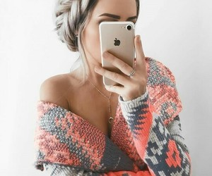 fashion, hair, and iphone image