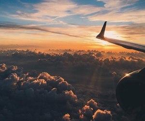 sky, sunset, and beautiful image