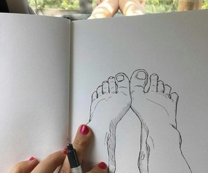 art, drawing, and feet image