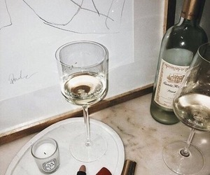 wine, drink, and candle image
