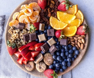 chocolate, desserts, and fruit image