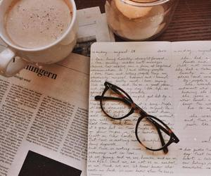 coffee, glasses, and study image