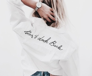 clothes, quote, and woman image