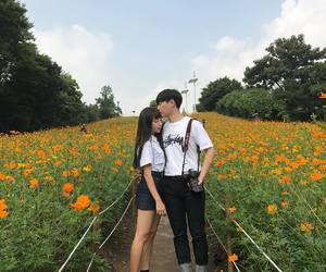 couple, korean, and asian image