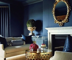 home, blue, and decor image