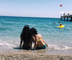 beach, friendship, and bff image