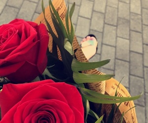 black, golden, and roses image