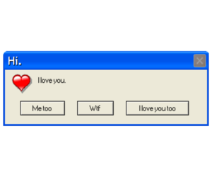 edit, error message, and I Love You image