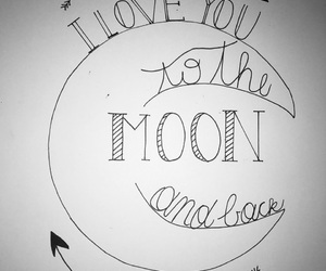 handlettering, moon, and quotes image