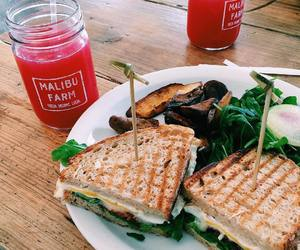 sandwich, drink, and food image