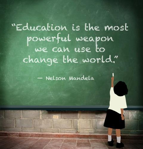 education, quote, and nelson mandela image
