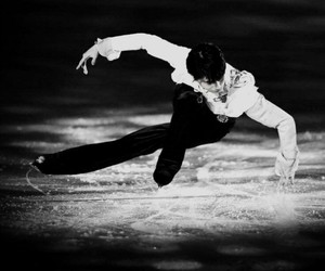 beautiful, black and white, and figure skating image