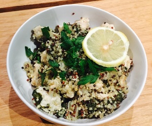 Chicken, healthy, and quinoa image
