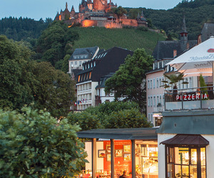 castle, cochem, and europe image