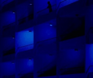 aesthetic, blue, and dark blue image