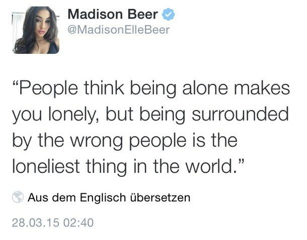 lonely, quote, and madison beer image