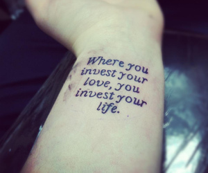 tattoo, life, and quote image