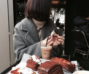 autumn, chocolate, and girl image