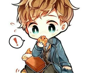 harry potter, newt scamander, and fbawtft image