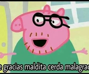 gracioso, peppa pig, and memes image
