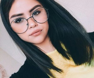 beauty, glasses, and makeup image
