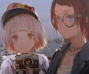 animation, anime girl, and illustration image