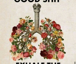 inhale, exhale, and flowers image