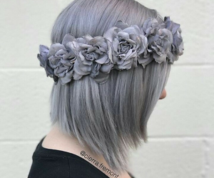 flowers, hair, and beautiful image