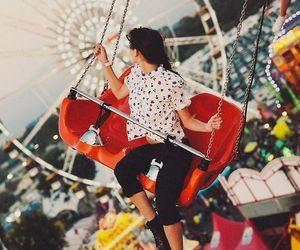 amusement park, vintage, and ferris wheel image