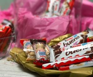 kinder, nutella, and birthday present image