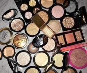highlighter and make up image