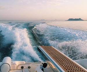 beach, luxury, and boat image