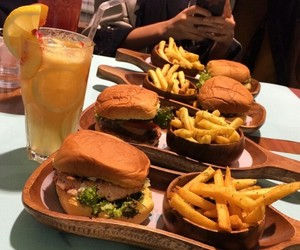 burger, delicious, and fast food image