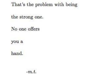 quotes, strong, and sad image