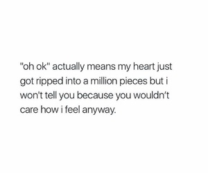 deep, feelings, and quote image