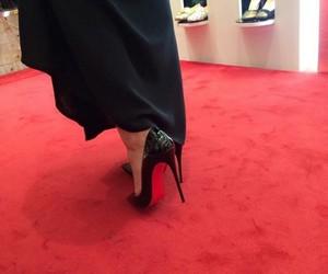 heels, high heels, and louboutins image