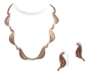 etsy, midcentury modern, and copper necklace image