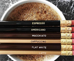 coffee, espresso, and pencil image