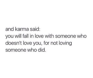 love, karma, and quotes image