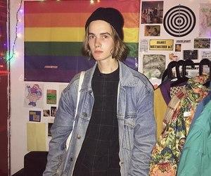 boy, long hair, and lgbt image