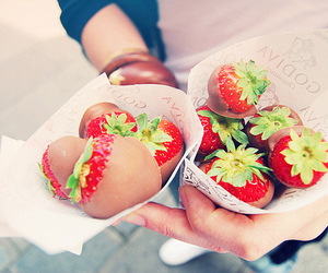 chocolate, fruit, and strawberries image