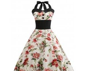 dress, floral, and vintage image