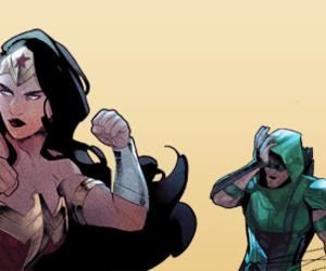 wonder woman, dc comics, and green arrow image